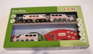 Schnellzug-Set m. Fernsteuerung für Holzeisenbahn